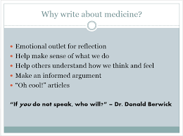 so you want to write about medicine scientific american blog  advertisement