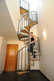 Stair, : Fascinating House Decorating Design Ideas With Spiral Staircase  Design Including Metal Spiral Handrail And Solid Wood Staircase Step