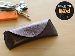 your sunglasses case 4 lastly in your rivet and you re all set note feel free to add a dab of glue to the for extra security