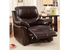 dudhope rustic dark brown bonded leather recliner