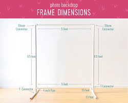 this way you can reuse it for diffe celebrationove it around easily we ll show you how to build a backdrop stand plus two ways to decorate it
