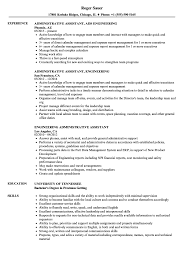 Examples Of Administrative Assistant Resumes Engineering Administrative Assistant Resume Samples Velvet Jobs
