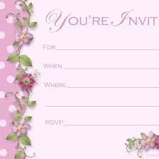 Image For Blank Birthday Invitations Templates Parties Weddings
