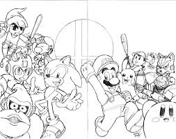 Small Picture smash bros coloring