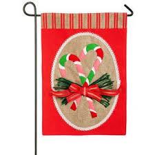 christmas garden flags. Candy Cane Burlap Christmas Garden Flag Flags