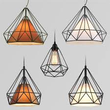 modern simple iron art restaurant bar lighting three single head coffee hotel industrial wind diamond chandelier lighting