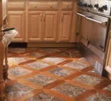 kitchen tile floor designs. tile and hardwood grid pattern too hard to do? sooo cool. do kitchen like floor designs