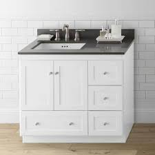 white shaker bathroom vanity. 36\u201d Shaker Bathroom Vanity Set With Ceramic Sink No Reviews White T