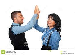 Executive Of Business High Five Image Five 16158156 Satisfied People - Stock Photo Give