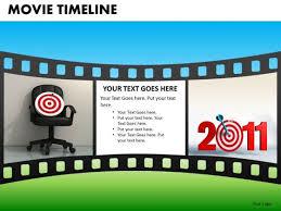 Movie Powerpoint Template Powerpoint Templates Film Strip Movie Timeline Ppt Slides