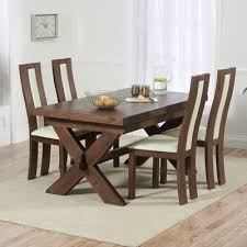 avalon dark solid oak 160cm extending dining table with 6 howard chairs 2672