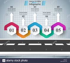 Road Infographic Design Template And Marketing Icons Stock Vector