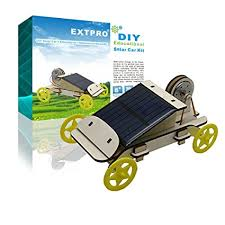 extpro wood solar car diy emble toy set solar powered car kit science educational environment