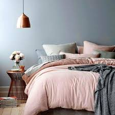 pink duvet cover change the blush to light blue the beige to white and keep gray