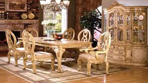 antique white traditional formal dining room furniture set leg table tuscany tuscan leather chairs plush 7 dining