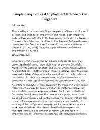 essay on employment employment essay gxart employment essay employment essaysample essay on legal employment framework in singapore sample essay on legal employment framework in