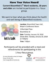 focus group flyers bloomfield township community health assessment survey brookdale