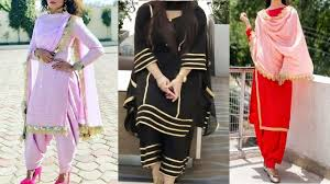 Plain Punjabi Suit With Lace Design Lace Design On Plain Suit Lace Design Idea New Lace Design Idea On Punjabi Suit 2019