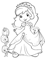 6xa47w3 strawberry shortcake princess coloring page free printable on house cleaning contract template