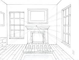 3d Bedroom Drawing One Point Perspective Bedroom Drawing 3d Room Design  Software .