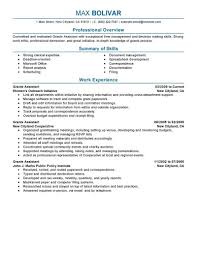 Resume Summary Examples For Administrative Assistants Best Grants Administrative Assistant Resume Example LiveCareer 21