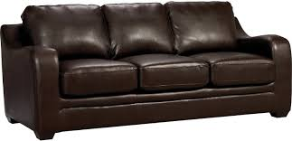 Chase Brown Faux Leather Sofa The Brick Regarding Synthetic pertaining to  The Brick Leather Sofa (