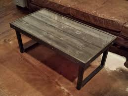 Image Of: Reclaimed Wood And Metal Coffee Table