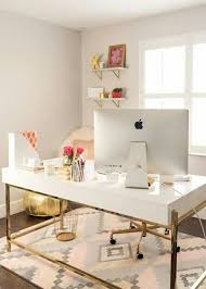 home office Bright & airy with gold accents