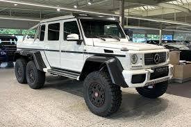 The 6x6 version does have the same engines, gearboxes, axles and front suspension as the 4x4 the first and largest customer is the australian army. Crush Your Neighbor S Truck In This Mercedes G63 Amg 6x6 Carbuzz