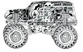 Monster Truck Color Pages Monster Truck Color Pages Grave Digger