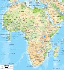 Physical Map of Africa - Ezilon Maps