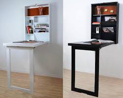 image of fold up wall mounted desk hutch