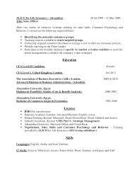 Cfa Candidate Resume