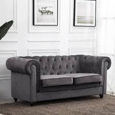 Chesterfield Sofa Antik Samt Polstersofa Couchgarnitur Wohnlandschaft Sessel Neu