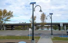 solar park lighting modern design led outdoor lighting throughout solar powered parking lot lights