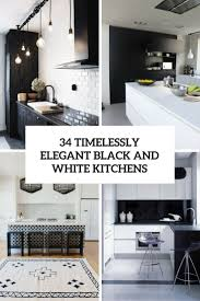 timelessly elegant black and white kitchens cover