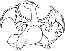 gallery of pokemon charizard printable coloring pages page free remarkable x