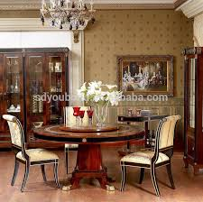 0010 high quality dining room table round clic solid wood meeting table