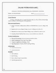 Examples Of A Good Resume Best Of 21 Best Of Basic Resume Examples