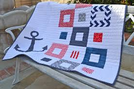 nautical baby quilt finished