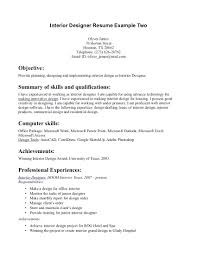 Assistant Designer Resume Interior Design Assistant Resume Interior Designer Resume Samples