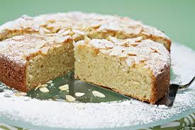Almond cake with ginger whipped cream