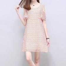 Shop Summer <b>Temperament</b> Women's <b>Pink Dress</b> Round Neck A ...