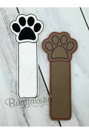 Bookmark Designs To Print Paw Print Bookmark Embroidery Design