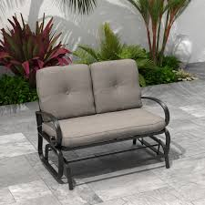 2 person patio outdoor cushioned swing