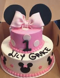 Baby Girl First Birthday Cake Minnie Mouse Birthdaycakeformomgq