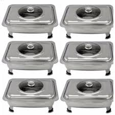 food warmer rectangular tray stainless with cover for catering serving events and party set