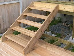 attaching stairs to a deck methods