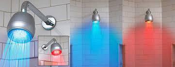 in shower lighting. Temperature Sensitive LED Shower Light In Lighting