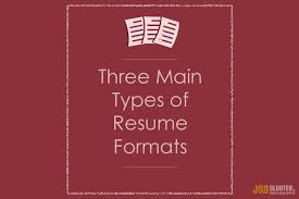 What Are The 3 Main Resume Types Jobcluster Com Blog